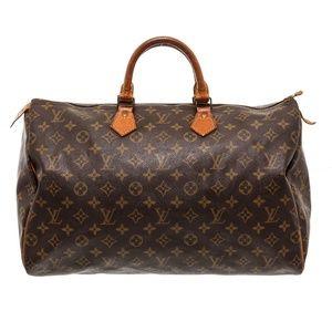 Louis Vuitton Canvas Leather Speedy 40 cm Bag